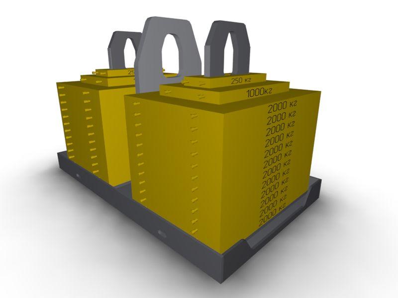 Контрольно испытательные груза от производителя металлоконструкций  Контрольные груза Контрольные груза